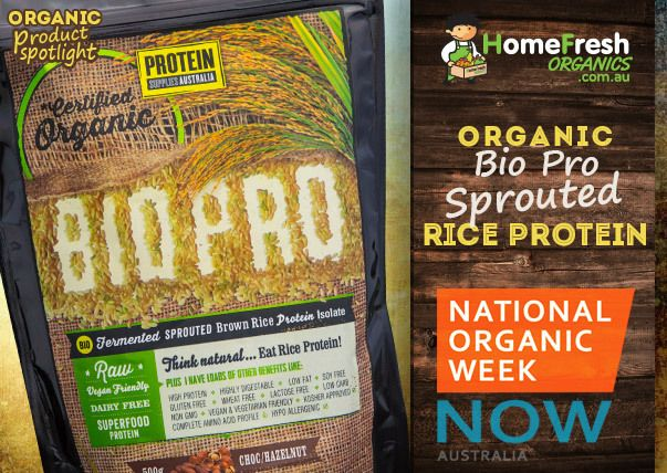 This Sprouted Brown Rice Protein Isolate from Protein Supplies Australia is a very special protein. Carefully crafted from sprouted, raw, organic wholegrain brown rice that has passed through a natural, bio-fermentation process, this Sprouted Rice Protein Isolate is one the most highly digestible forms of protein on the market.  http://homefreshcommunity.com.au/2014/10/08/organic-product-bio-pro-rice-protein/