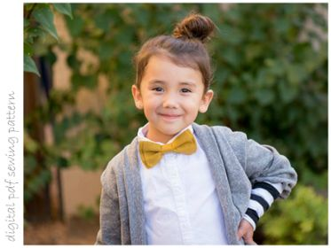 Bow Tie - Sizes 0-3mo to 5+yrs | Craftsy | digital pdf sewing pattern