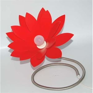 LAMPE A POSER  Lampe Marguerite Rouge