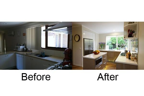 Before & After Smarter Kitchens renovation