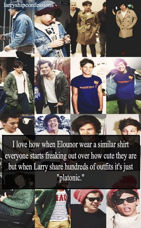 They're friends. They see each other all the time. They share clothes because they wear similar sizes. I'm done trying to disprove Larry for a while. It's killing me and I want to cry.