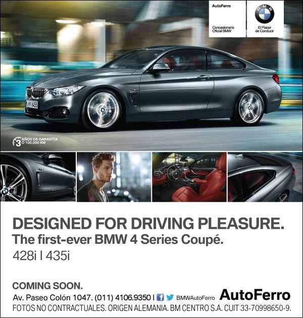 BMW Serie 4 - TOTALMENTE NUEVO EN LA FAMILIA DE PRODUCTOS #BMW  Pronto se presentará en AutoFerro el nuevo BMW Serie 4  Adelantate y disfrutalo primero // Ya podés reservarlo 4106-9350 www.autoferro.com