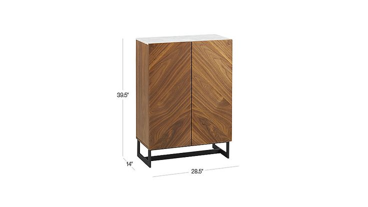 Image with dimension for Suspend II Wood Entryway Cabinet