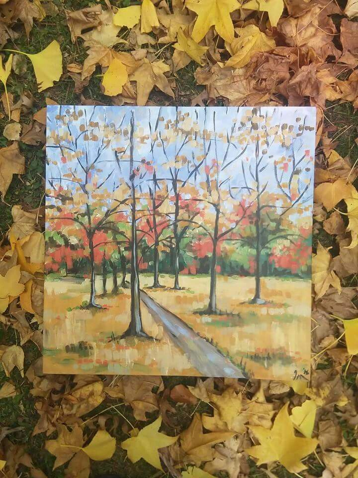 Autumn gold for sale $200 iraartist@hotmail.com by Ira