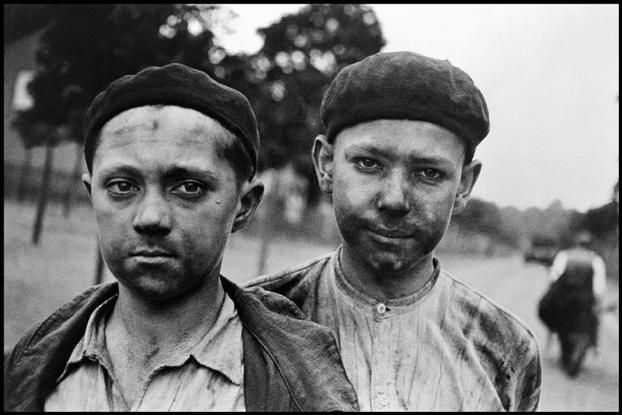 North of France. 1935. Young miners.