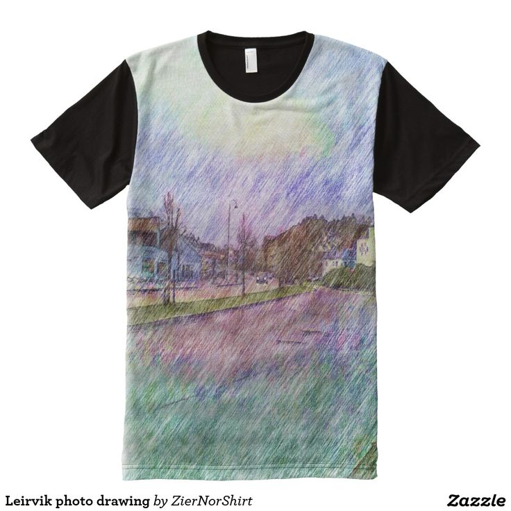 Leirvik photo drawing All-Over print t-shirt