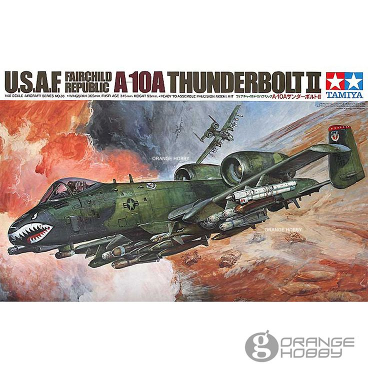 OrangeHobby-font-b-Tamiya-b-font-61028-1-48-A10A-Thunderbolt-II-Assembly-Airforce-font-b.jpg (1000×1000)