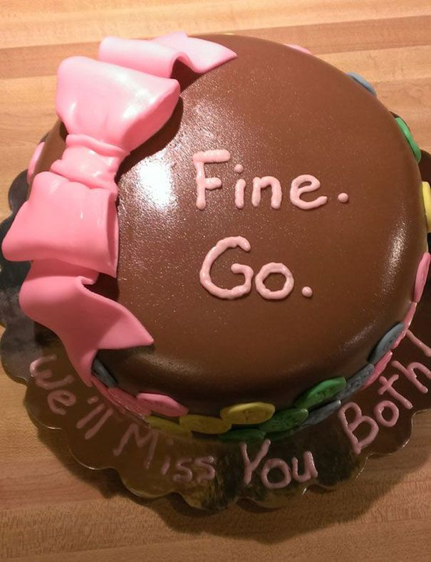 15+ Hilarious Farewell Cakes That Employees Got On Their Last Day At The Office | Bored Panda