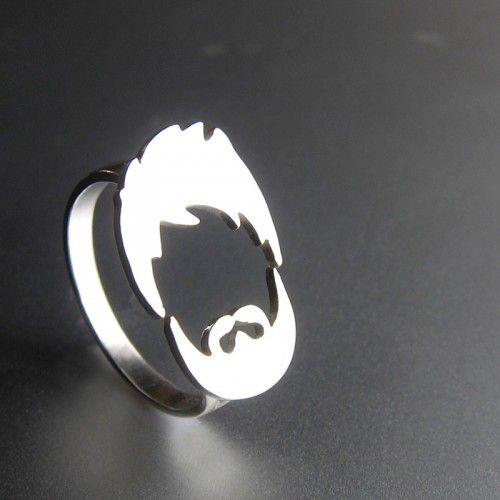 Hair  Beard Ring - Handmade Silver Ring