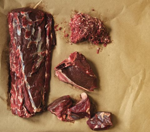 Venison - we can source this directly from Bradgate Park opposite so a grand total of 200 meters away!