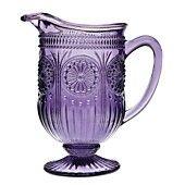 Godinger Serveware, Modern Vintage Florentine Amethyst Pitcher