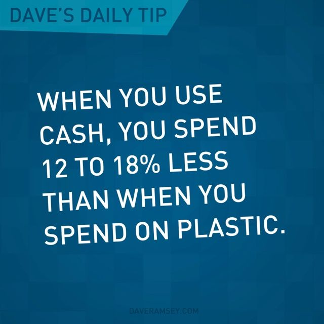 Dave Ramsey. I need to give myself a weekly cash budget. If I don't have any…