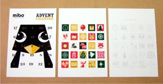 free diy pdf advent calendar mibo advent calendars. Black Bedroom Furniture Sets. Home Design Ideas