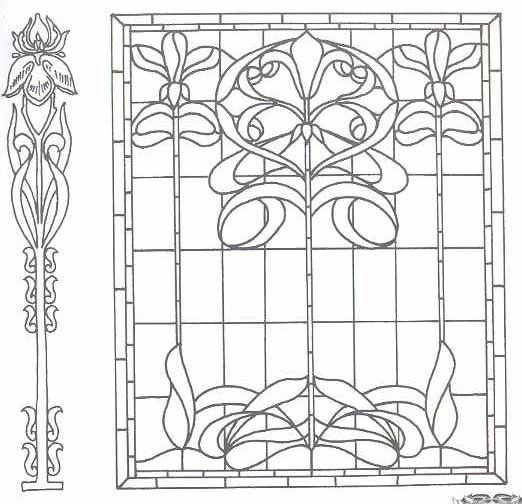 74 best images about art nouveau stained glass on