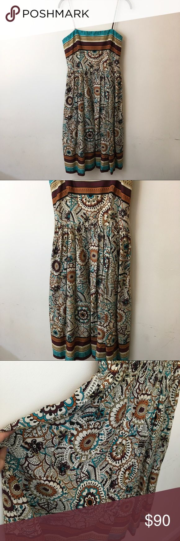 David Meister Floral Sleeveless Midi Dress David Meister Dress floral and is lined with a zipper closure. Worn once for an occasion. David Meister Dresses