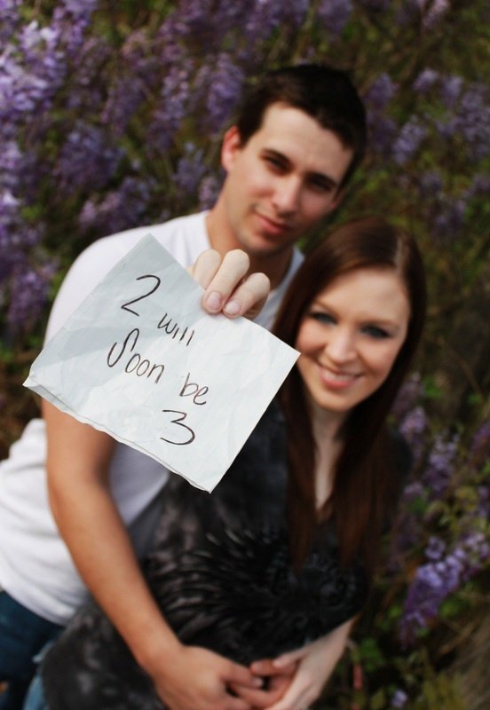 """pregnancy announcement pic... could also say """"and then there were 3"""""""