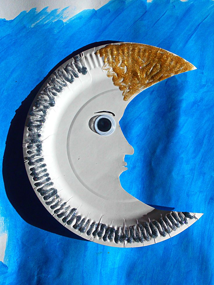 how to make a moon out of paper