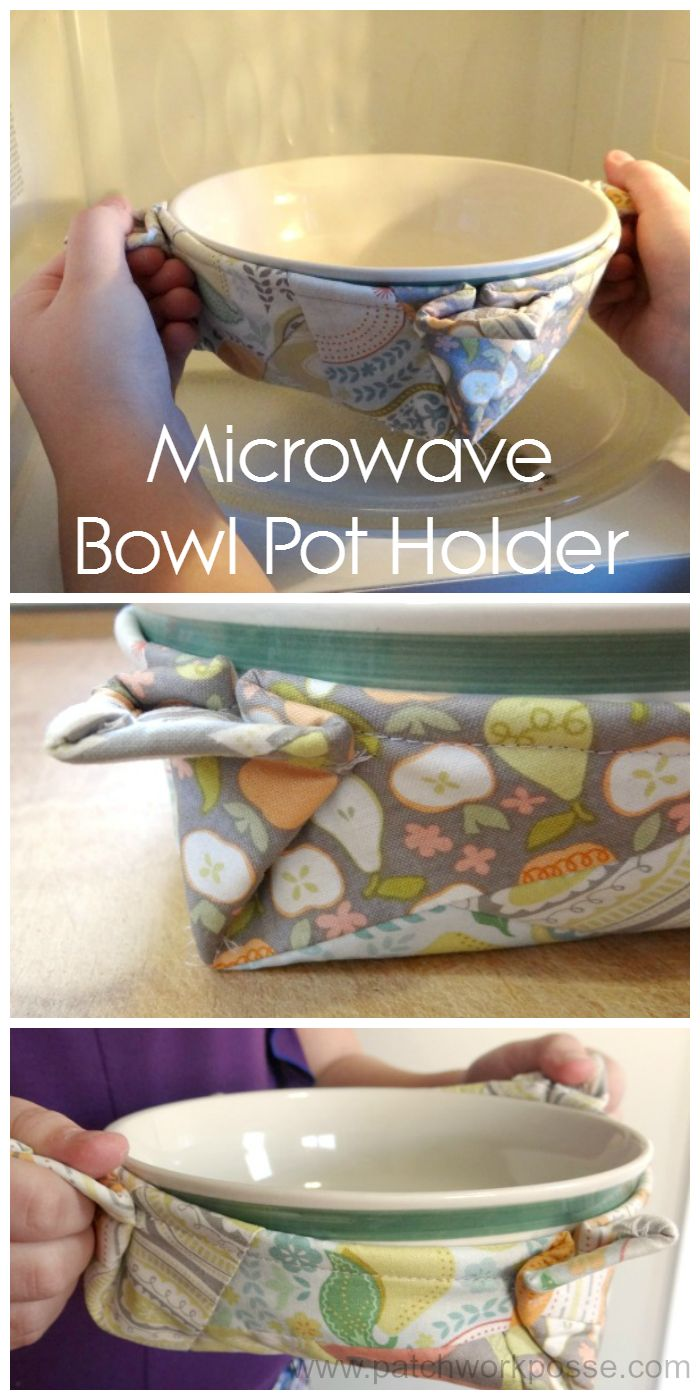 microwave bowl pot holder - stop burning those fingers with that hot bow. Can be customized for any size bowl.  #freepatternfriday