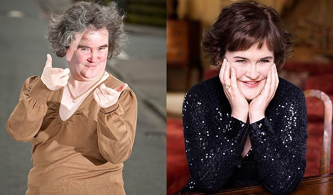 ... And After susan boyle before and after makeover before and after