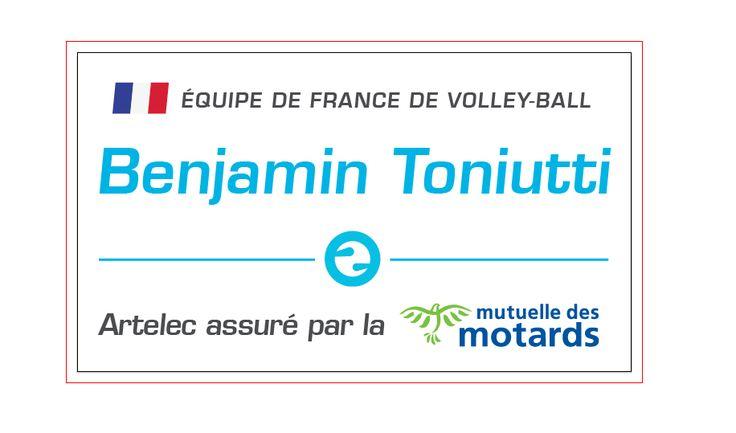Benjamin Toniutti, passeur de l'équipe de France de volley-ball, roule en Artelec