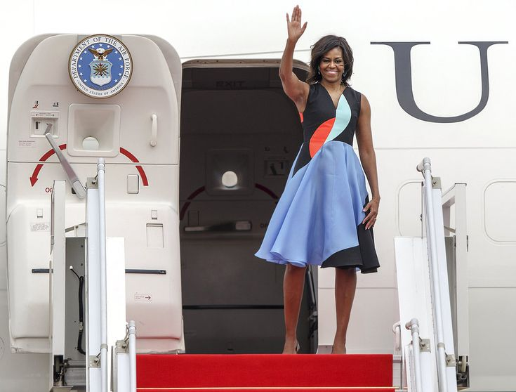 In wearing shapes that recall the '50s on her Asian tour, Michelle Obama may have showed girls that in confronting a stereotype, you negate its power.