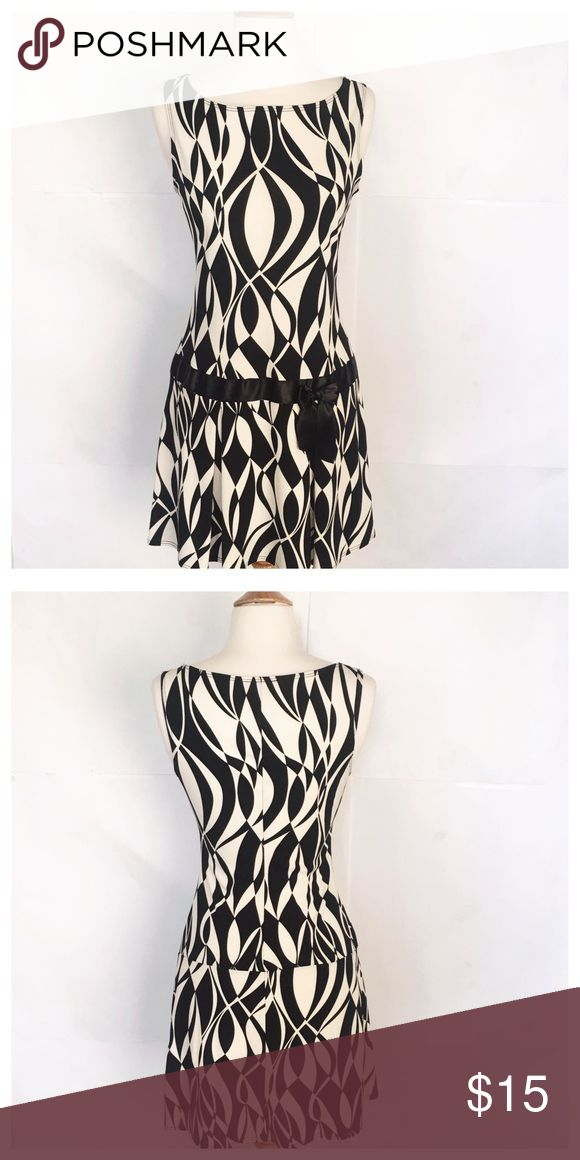Funky dress Perfect condition with black and white pattern XOXO Dresses