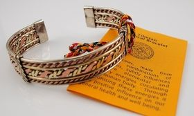 Tibetan Medical Bracelet Unisex (wide style) suits all sizes as it is open at ends. Available at threemadfish.com