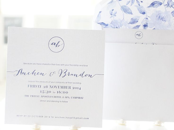Wedding Invitations | Wedding Stationery | South Africa | Secret Diary | Letter pressed Invitations – Anchen and Brandon