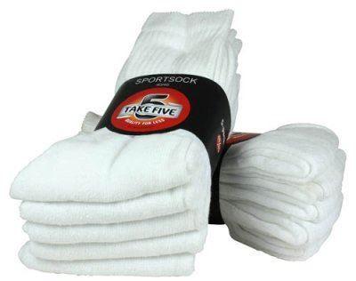 Vita strumpor i mycket bra kvalitet till alltid samma låga pris. Kvantitet med kvalitet.