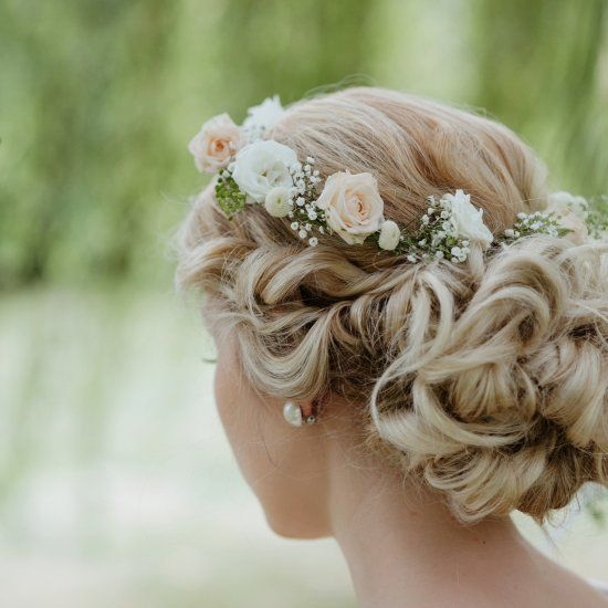 Bridal Updo Flower : Best ideas about simple flower crown on