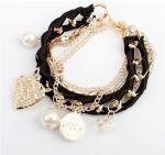 Black multi layer ribbon weave bracelet  http://finishingtouchaccessories.com.au/