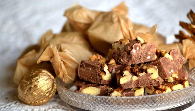 Házi készítésű finomság karácsonyra - moksha.hu | Szaloncukor helyett: pörkölt diós-rumos csokikocka | http://www.moksha.hu