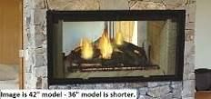 Majestic Fireplaces DSR36 36 Inch See-Thru Radiant Wood Burning Fireplace