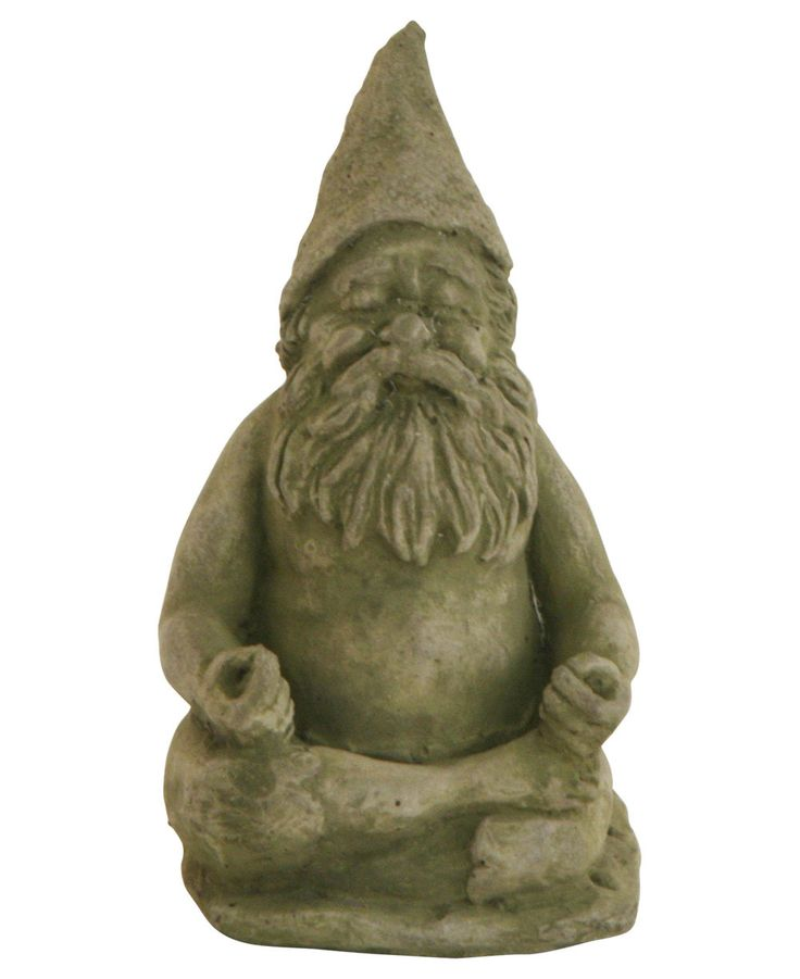 Meditating Garden Gnome Statue, Made In USA