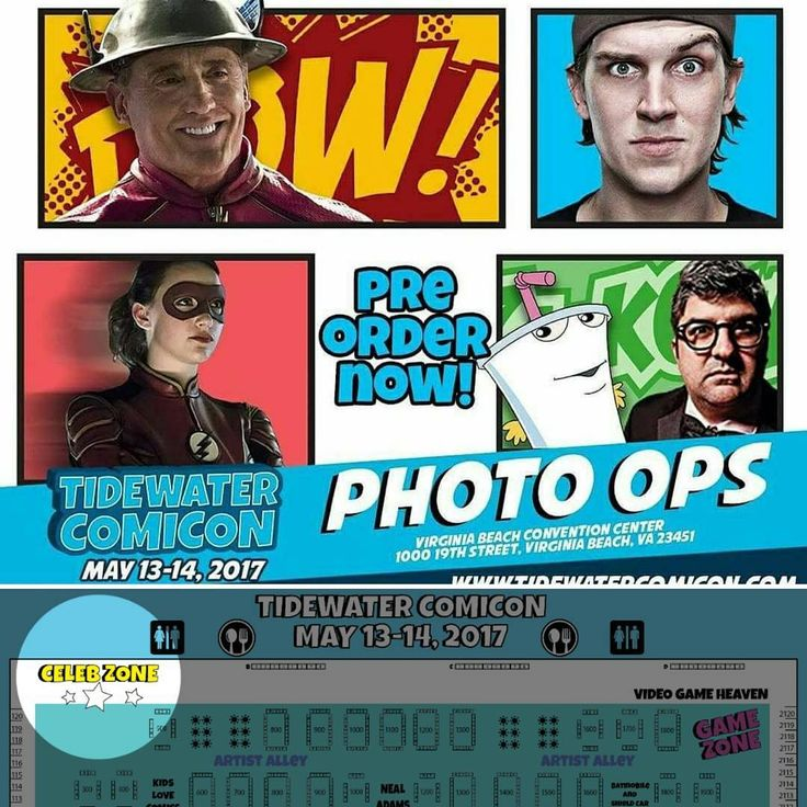 TIDEWATER COMICON is only ONE WEEK away! Celebrity Photo Ops are now available for pre-order. Redeem them at our CELEB ZONE! Get your passes and photo-op preorders now! (LINK IN BIO) May 13th and 14th at the Virginia Beach Convention Center. #Virginia #Virginiabeach #beach #va #vabeach #may #2017 #comiccon #comicon #marvel #cartoon #dc #cartoons #disney #starwars #event #convention #batman #actor #artist #celebrity #actors #celebrities #actress #tv #movie #writer #theflash #movies…