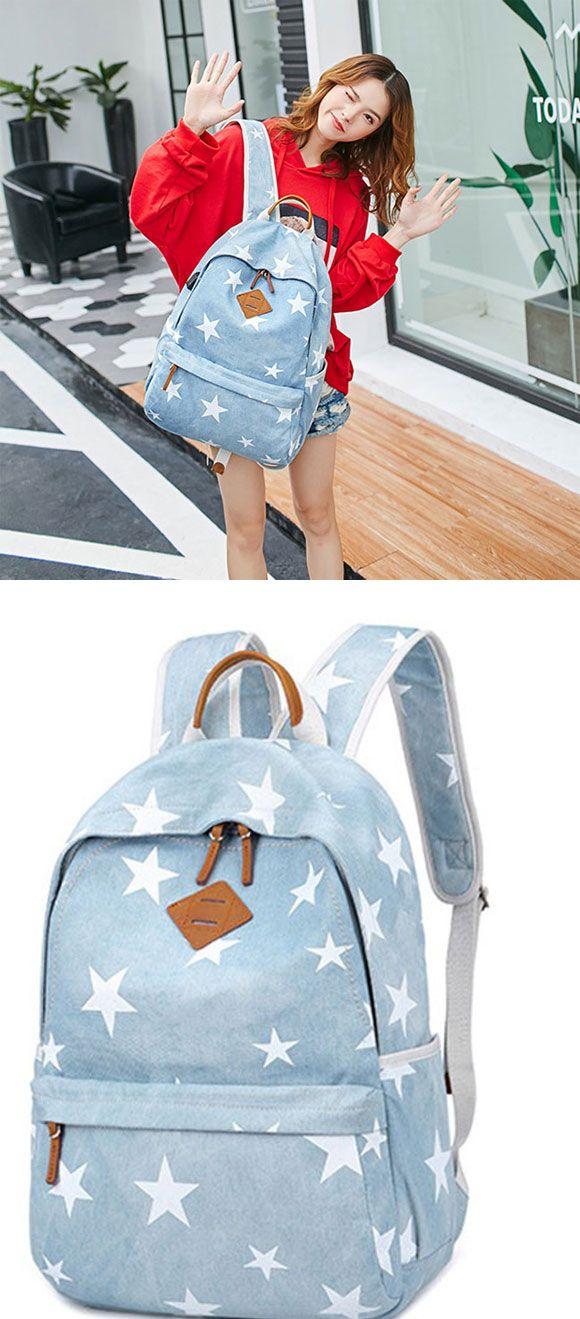 Backpack Girls Pastel Rucksack Boys Casual A4 School Bag Baby Pink Blue Women