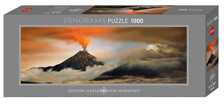 "Panoramic puzzle1000 piecesMade by HeyeCompleted puzzle measures 12.8"" x 37.2"" Artist: Alexander von Humboldt"