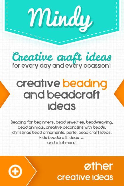 Creative beading and beadcraft idea collection / Kreatív gyöngyfűzés és gyöngy ötletek /  Mindy