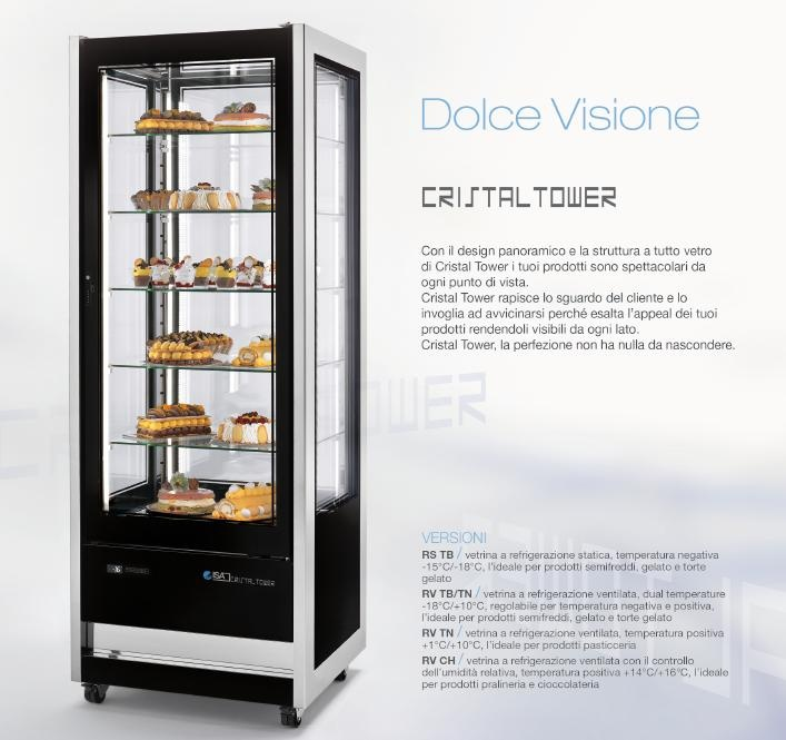 Armadio espositivo Cristal Tower by ISA. #gelato, #gelaterie, #dolci, #pasticcerie, #bar www.isaitaly.com