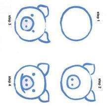 how to draw a pig drawing for kids how to draw lessons how - Basic Drawings For Kids