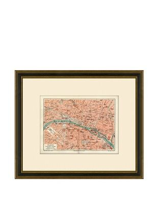 50% OFF Antique Lithographic Map of Paris, 1894-1904