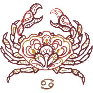 Cancer embroidery design #zodiac