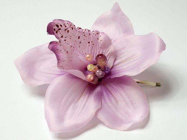 Haarbloemen - Bloem haar accessoire / orchidee - Een uniek product van LolaWhite op DaWanda