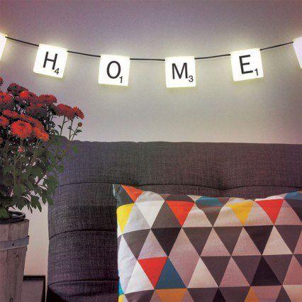 Scrabble Lights - funky hanging Scrabble letter lights