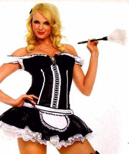 leg avenue naughty french maid xs sexy halloween costume cosplay dress duster - Naughty Halloween