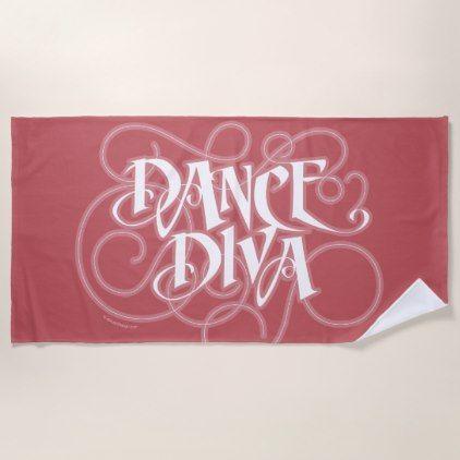 Dance Diva Beach Towel - home decor design art diy cyo custom