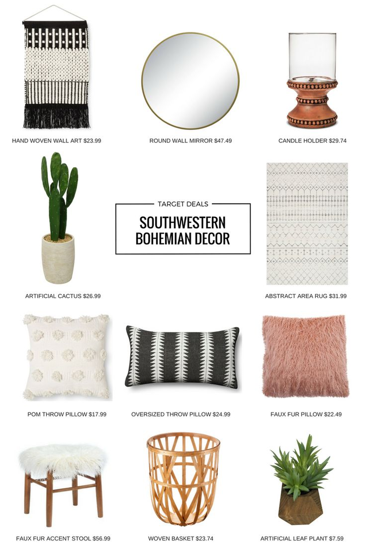 Target has some amazing decor pieces that not only match the Southwestern Bohemian vibe but are super affordable too. I just couldn't resist rounding up a