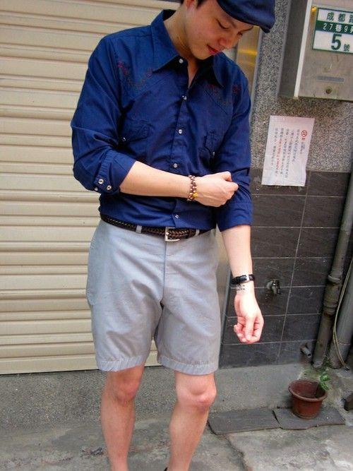 Cap:Kangol   Shirt:70's Vintage   Short:Rock Vinta