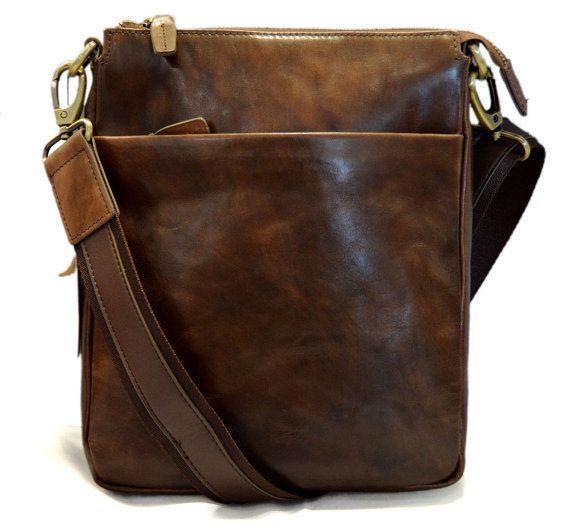 Leather shoulder bag sling mens women messenger leather satchel crossbody leather postman bag red brown dark brown hobo bag
