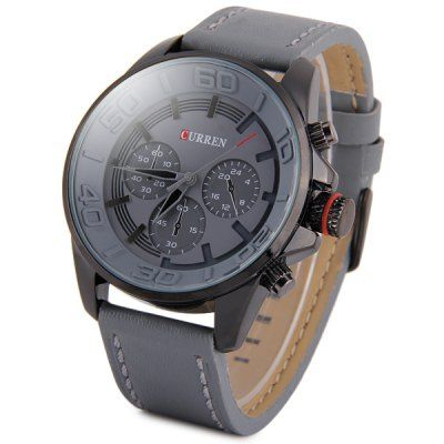 Curren 8187 Men Quartz Watch Analog Wristwatch Leather Band-10.24 Online Shopping| GearBest.com